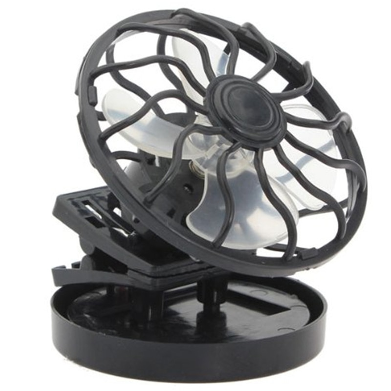 Hot TOD-Portable Summer Cooling Fan Powered By Direct Sun Visor with Mini Clip-on Solar Fan