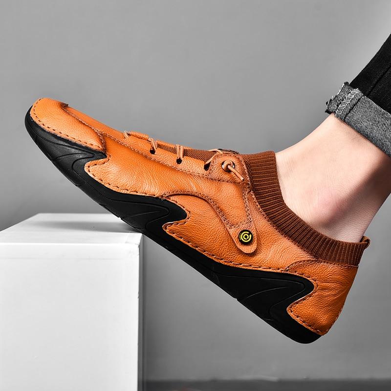 أحذية رجالي الربيع 2021 جديد حذاء رجالي كاجوال مع تنفس أحذية أطفال مع نعل مرن من الجلد صغير حذاء أبيض الأزياء أحذية قيادة