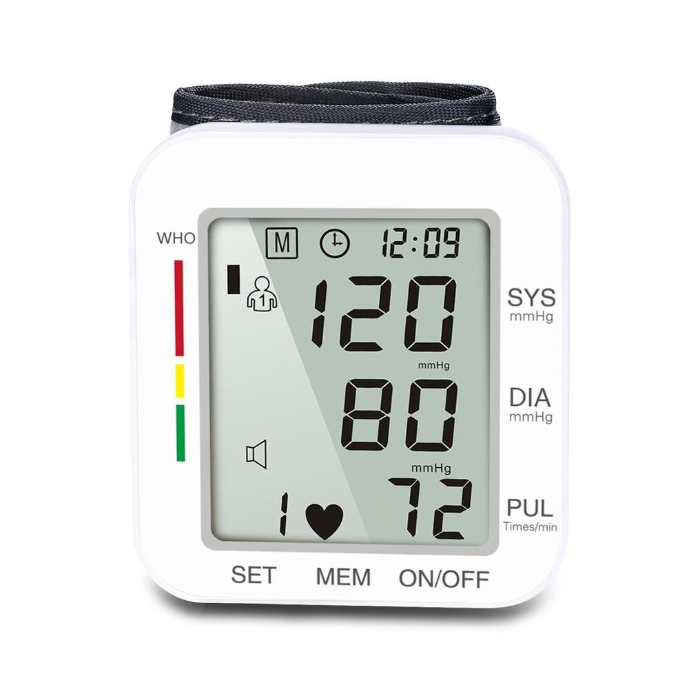 ShuKang Portable manchette poignet tonomètre automatique numérique sphygmomanomètre pression artérielle BP compteur moniteur fréquence cardiaque compteur dimpulsions