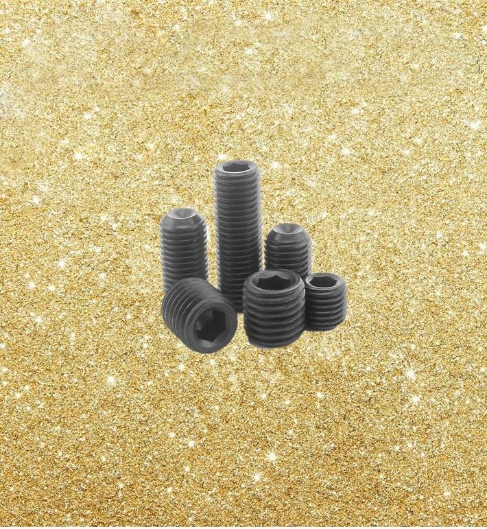 2pcs M16 Allen grups screws hexagon socket headless grup screw stop set bolt black color 14mm-45mm long