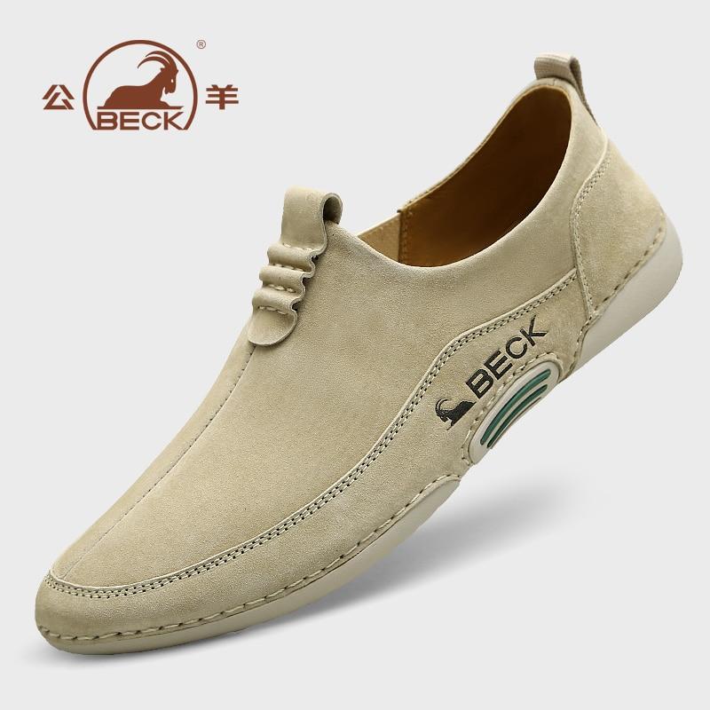 أحذية رجالي مريحة جلد طبيعي متعطل مكافحة زلة المنزل foottware الانزلاق على أحذية الموكاسين مريحة