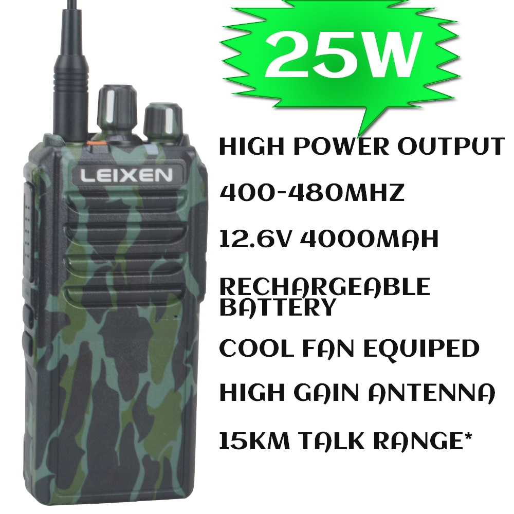 VV-25 UHF Walkie talkie long distance comunicador Genuine 25W high power 15Km talkie walkie 400-480MHz Camouflage