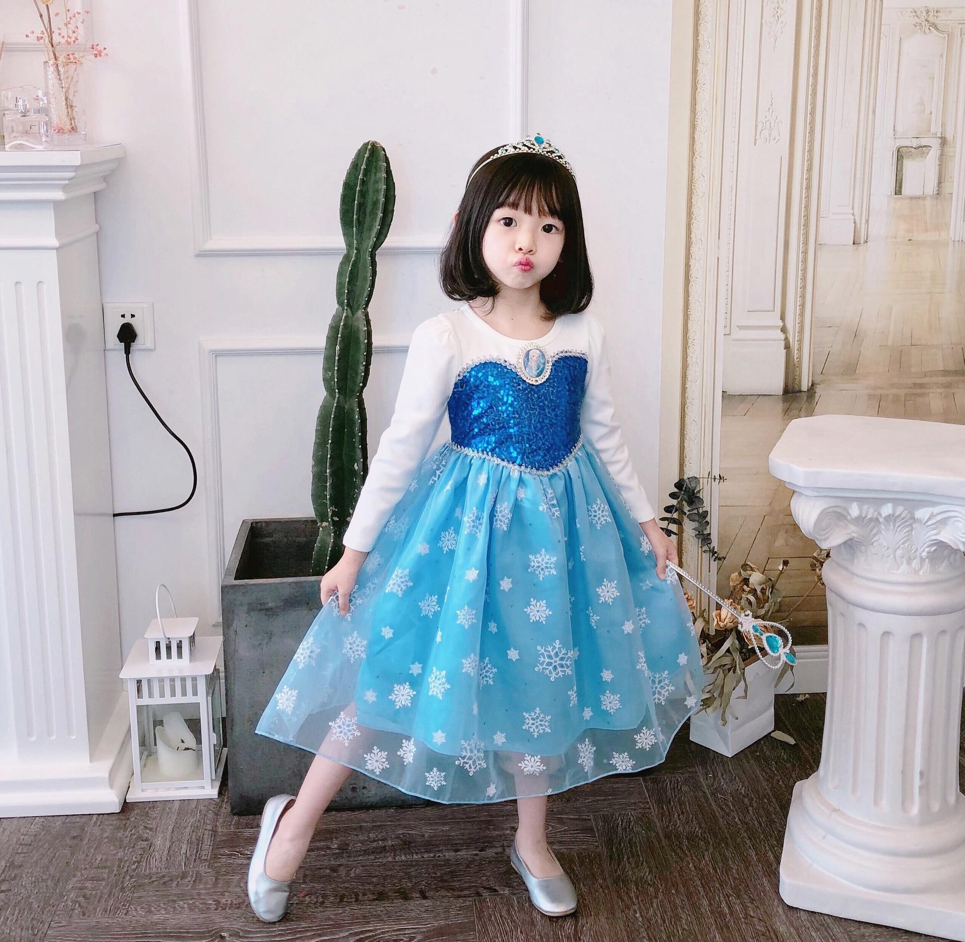 Disney dzieci sukienki dla dziewczynek księżniczka sukienka boże narodzenie Halloween odzież dziecięca elegancka mrożona jesień Cartoon 1736B