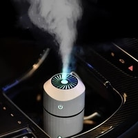 Mini diffuseur electrique dhuile essentielle et darome  humidificateur dair USB pour voiture  brumisateur silencieux a 7 couleurs changeantes