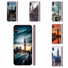 Piękny budynek Big Ben w londynie miękka moda telefon komórkowy dla iPhone 11 Pro 4 4S 5 5S SE 5C 6 6S 7 8X10 XR XS Plus Max