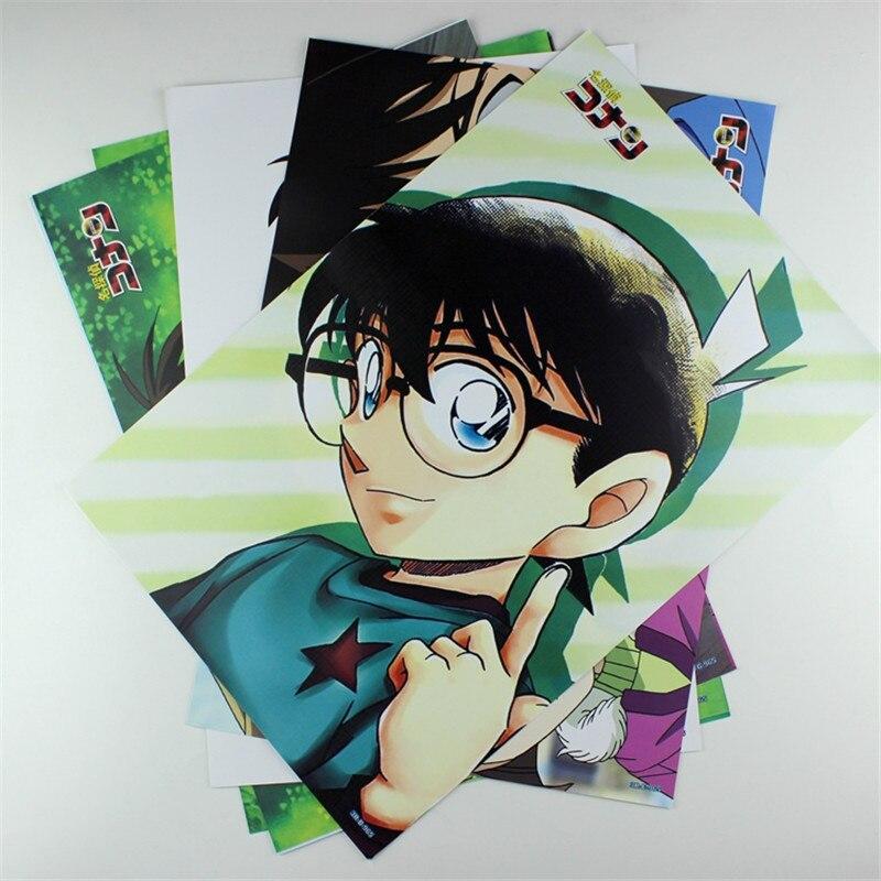 8*(42x29 cm) anime de Detective Conan decoración de carteles pared pegatina de dibujos animados