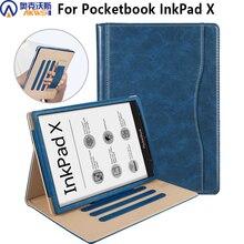 Funda para Pocketbook InkPad X 2020, Funda de cuero con soporte para nuevo Pocketbook InkPad X 10,3 pulgadas con soporte de mano