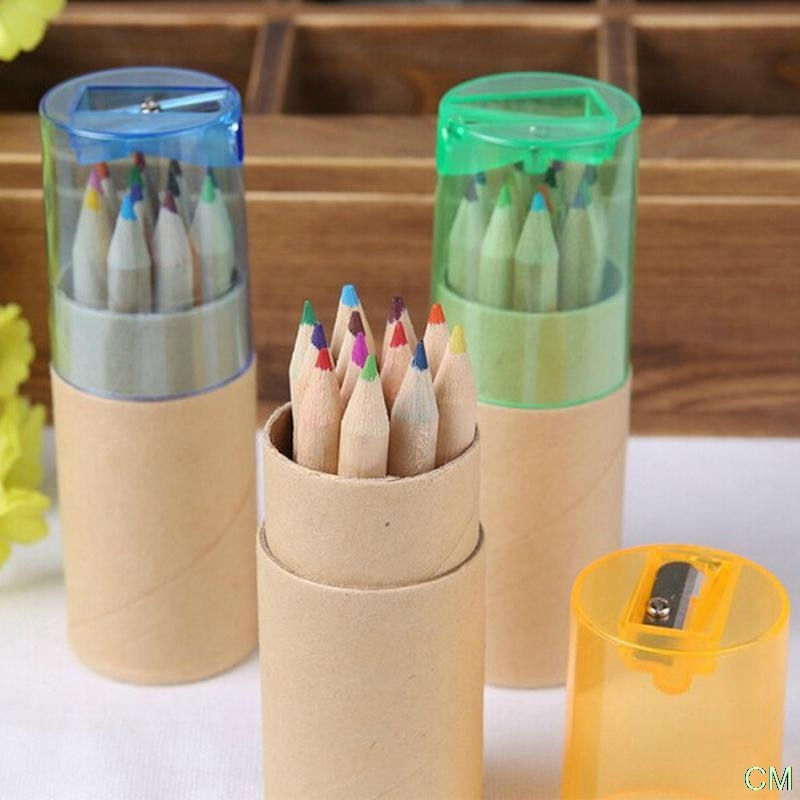 Фото - 12 Pcs/lot 12 Colors Colored Pencils New Cute Wooden Writing Painting Pencils For Kids Gift School Supplies stationery stabilo wooden colored pencils 2606803 colored pencil for boys and girls children sets