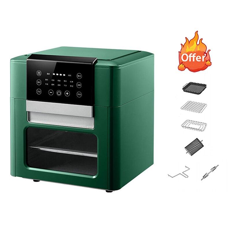 12L مقلاة الهواء ذكي التلقائي فرايز فرايز شفاف 1600 واط الطبخ المقلاة اكسسوارات مقلاة كهربائية