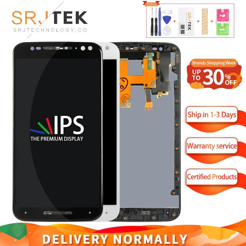 "Srjtek 5,7 ""para Motorola Moto X style x3s X3 estilo XT1570 XT1572 XT1575 pantalla LCD Digitalizador de pantalla táctil montaje completo de"