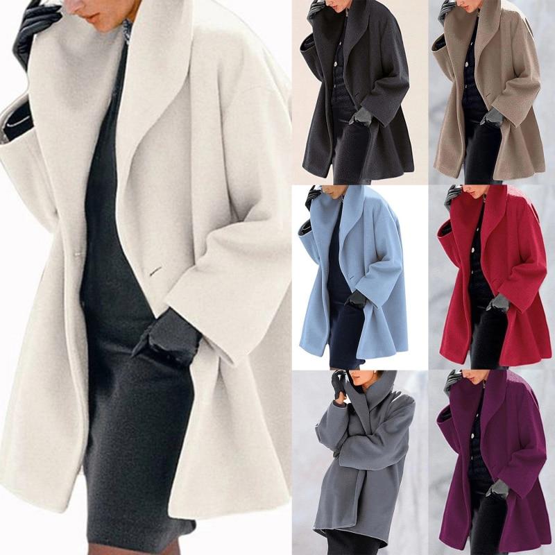 Abrigos y chaquetas holgados de oficina Para Mujer, ropa de abrigo de...