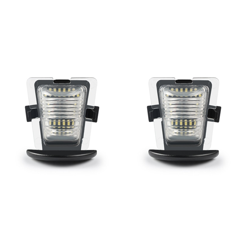 1Pcs 18SMD 12V 3W License Plate Light Replacement For Jeep Wrangler JK JKU 07-18 White Canbus Error Free