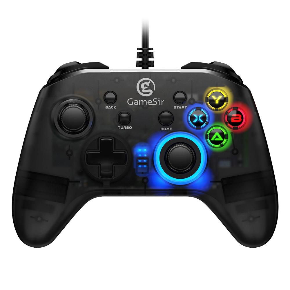 GameSir T4w USB السلكية أذرع التحكم في ألعاب الفيديو غمبد مع الاهتزاز و توربو وظيفة المقود ل ويندوز 7/8/10