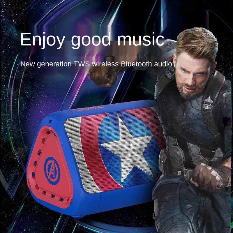 Disney Marvel Captain America Bluetooth Speaker Iron Man Portable Small Speaker Music Recording Studio Equipment Wireless enlarge