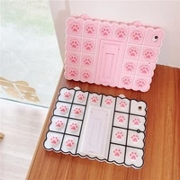 cute cats paw kids girl for apple ipad 9 7 mini123 mini45 10 2 pro 11 10 5 10 9 air4 123 tablet soft silicon stand funda case