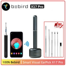 Oringal Bebird X17 Pro Visuelle Earstick Otoscop Hohe Präzision Endoskop Mini Kamera Ohr Wachs Entfernen Reiniger Magnetische Ladung Basis
