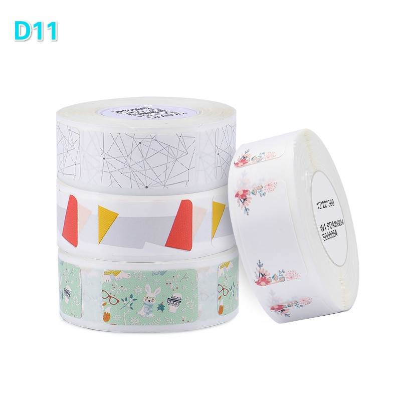 Niimbot D11/D61 Label Printer Printer Paper Roll Label Sticker Waterproof Anti-Oil Tear-Resistant Price Label Scratch-Resistant mini label printer paper printing label waterproof anti oil price label pure color scratch resistant label sticker r50