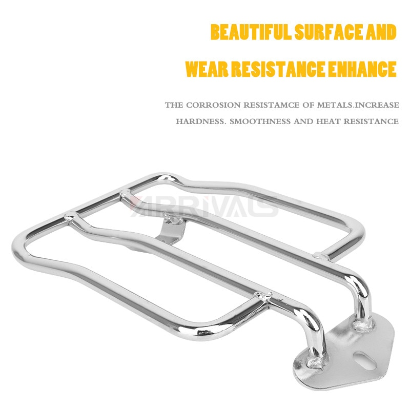 AliExpress - Chrome Black Motorcycle Solo Seat Luggage Rack For Harley XL Sportsters Iron 48 883 XL1200 2004-2019