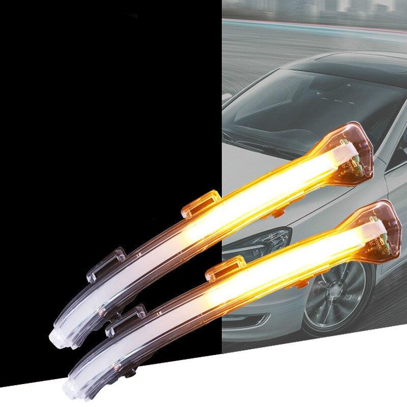 Car Rearview Mirror Modified Mirror Led Water Turn Signal For Volkswagen Golf 7, Golf 7.5, Golf Tour, Touran L, Lingdu