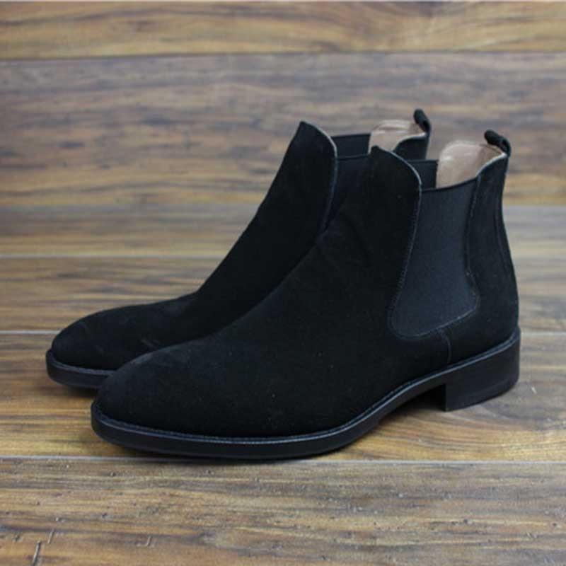 Sipriks الفاخرة رجالي الايطالية اليدوية جوديير فيلت اللباس أحذية أسود البقر المدبوغ تشيلسي الأحذية الأعمال مكتب الرسمي أحذية رعاة البقر