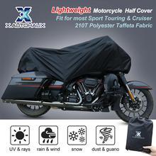 X AUTOHAUX M L XL taille moto demi couverture 210T universel extérieur étanche à la poussière de pluie protection UV moto vélo