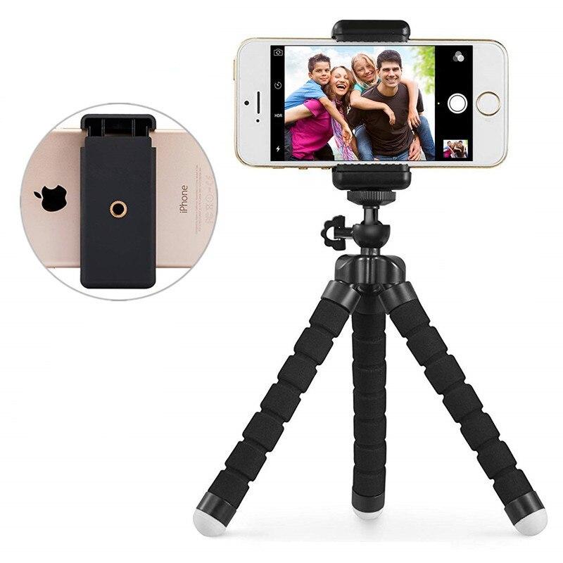 Mini eponge souple pieuvre trépied pour iPhone Samsung Xiaomi Huawei téléphone portable Smartphone trépied pour iPhone 11 SE