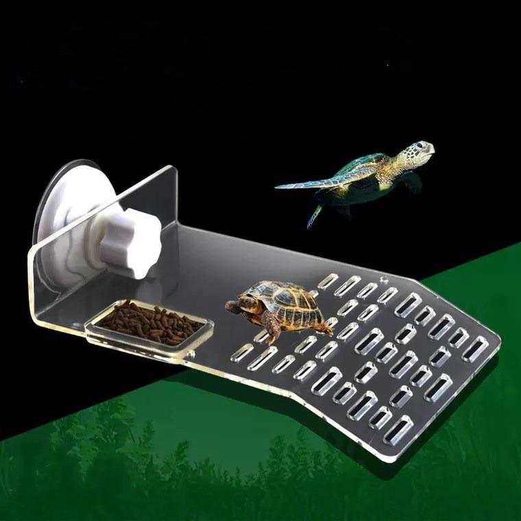 Terrario terrario tortuga reptil tanque flotante plataforma ventosa resistente fácil de instalar