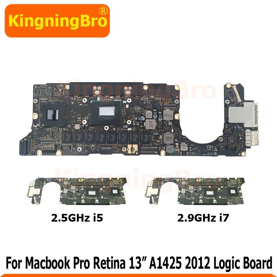 """Original 2.5ghz 2.9ghz i5 i7 placa-mãe para macbook pro retina 13 """"a1425 placa lógica tarde 2012 820-3462-a"""