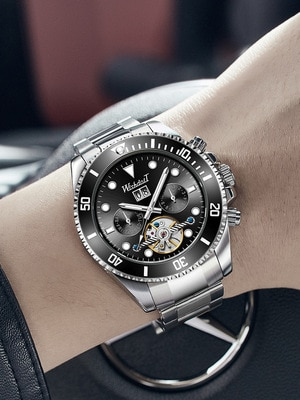 2021 Trendy Men's Automatic Mechanical Watches New Waterproof Fashion Multifunctional Watches Cool-Looking Exquisite Style enlarge