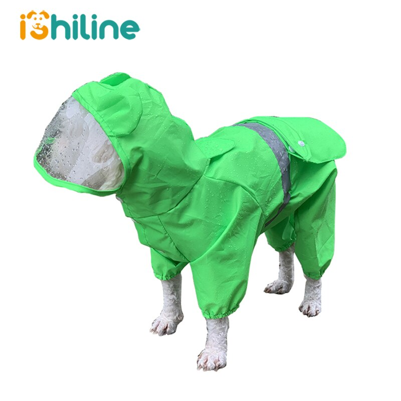Large Dog Raincoat Clothes Waterproof Rain Jumpsuit For Big Medium Small Dogs Golden Retriever Outdoor Pet Clothing Coat