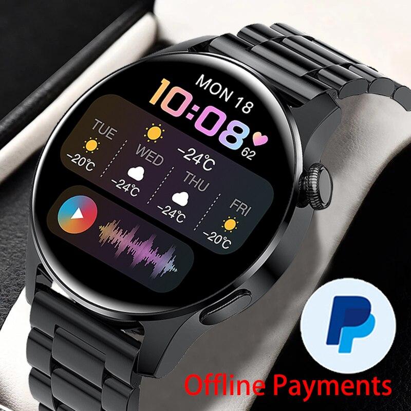 GEJIAN Men Smart Watch Bluetooth Call Watch IP67 Waterproof Sports Fitness Heart Rate Watch For HUAW
