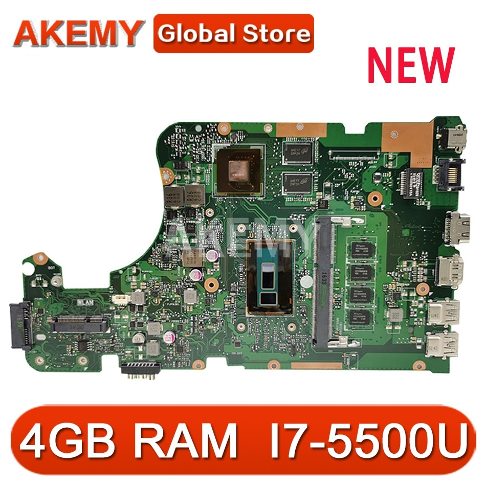 Placa-mãe Akmey X555LJ com 4 GB de RAM I7-5500U 2 GB para placa-mãe do laptop ASUS X555LNB X555LN X555LD X555LB X555LJ X555LF