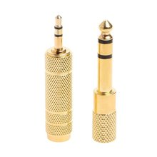 2Pcs 6.5Mm 1/4 Female To 3.5Mm 1/8 Male Stereo Audio Mic Plug Adapter Jack New 2021
