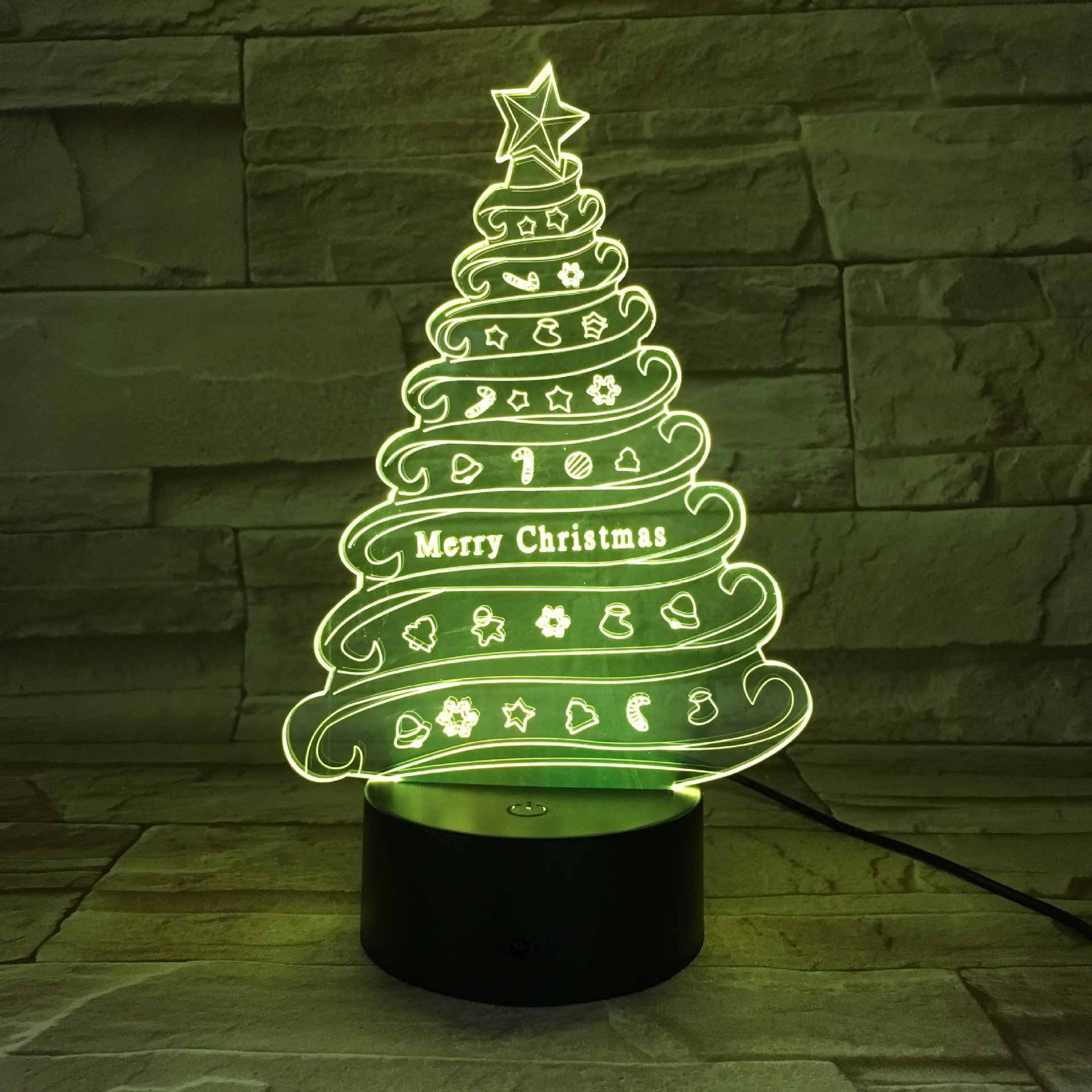 3D Christmas Tree Night Light Colorful LED Table Lamp Christmas Decoration For Bedrooms Children's Rooms  Indoor Lighting 2018 special offer time limited christmas tree new led christmas lighting yard decoration 1 6m led backdrop lamp h199