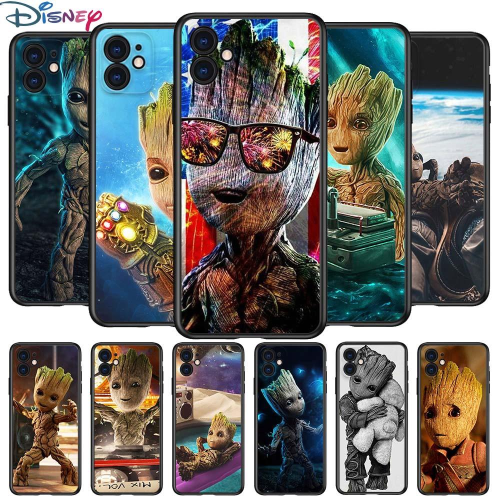 groot-marvel-vengadores-para-apple-iphone-12-pro-max-mini-11-pro-xs-max-x-xr-6s-6-7-8-plus-5s-se2020-suave-negro-telefono-caso