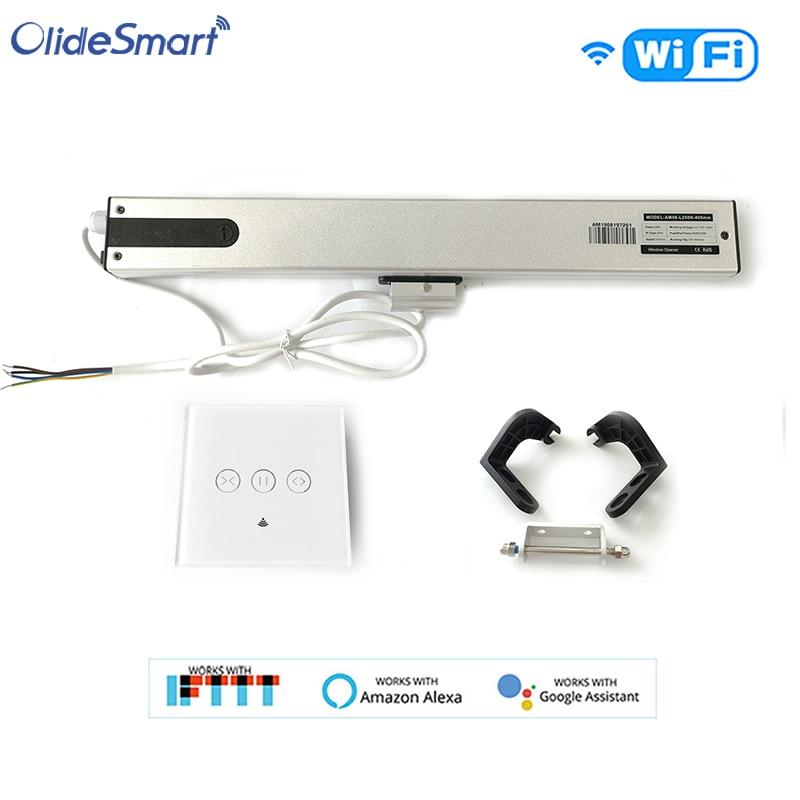 Olide-فتاحة نافذة أوتوماتيكية ذكية مع مفتاح سلكي ، واي فاي ، تطبيق هاتف ، جهاز تحكم عن بعد لمكبر الصوت الذكي