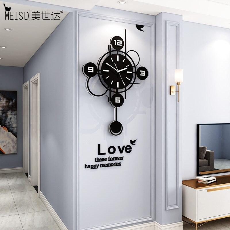 Meisd nordic relógio de parede relógios pêndulo decorado design moderno quarto relógio parede arte pinturas decoração casa horloge frete grátis