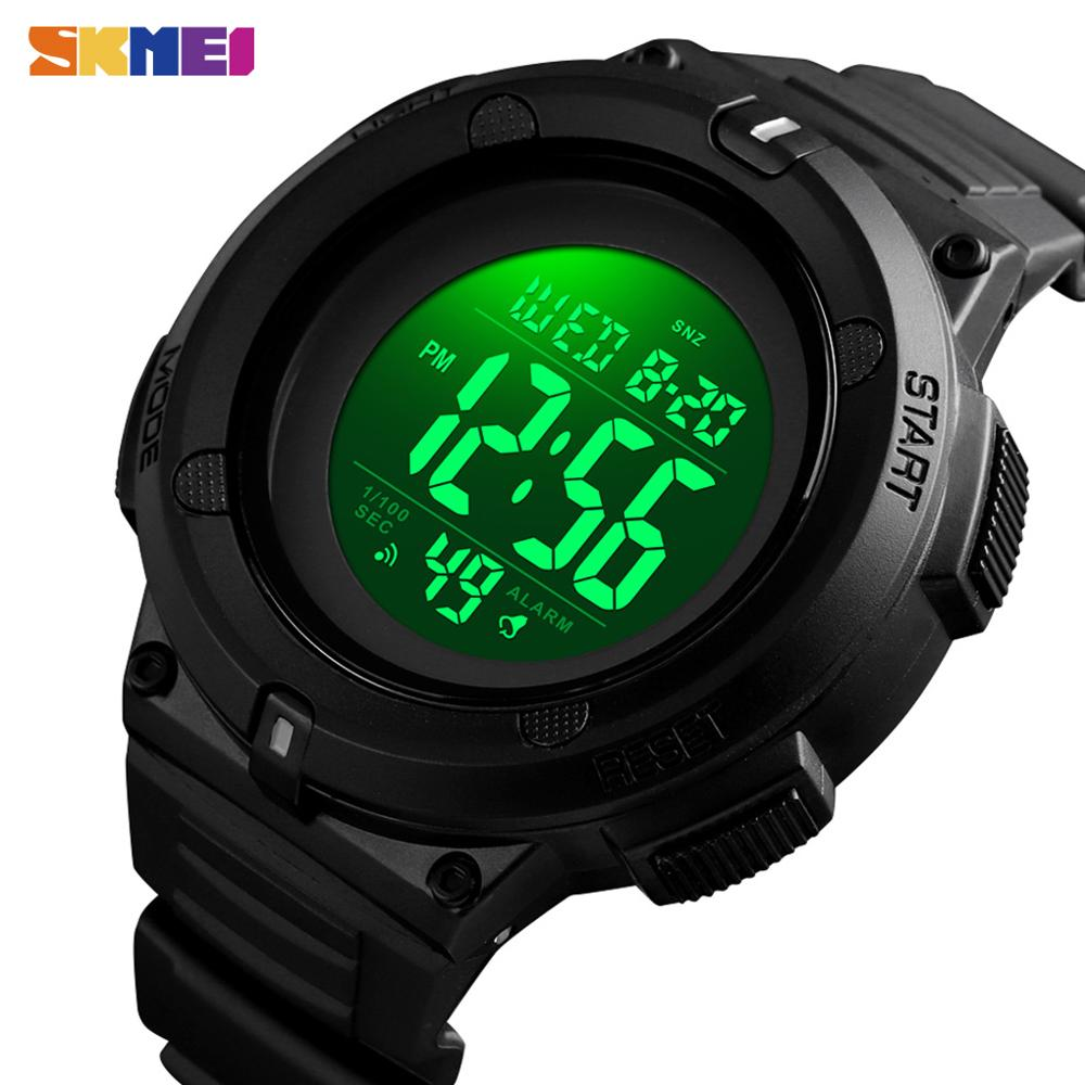 Relojes deportivos SKMEI para hombre, reloj de pulsera Digital 2 veces Chrono, reloj de pulsera para hombre a prueba de golpes, reloj electrónico resistente al agua, reloj para hombre 1527