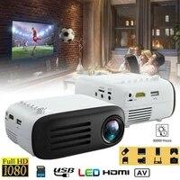 YG200 7000 Lumens Full HD 1080P Mini PROJECTEUR LED Home Cinema Cinema USB compatible HDMI AV SOUTIEN 1080p 3D Home Cinema