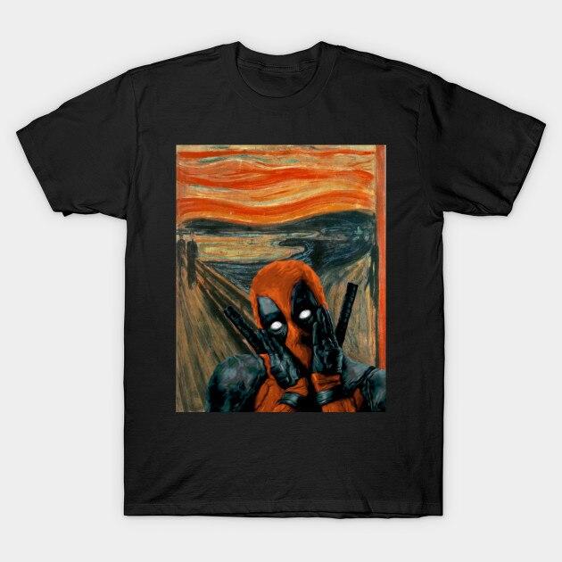 Hombres camiseta el grito Deadpool camiseta mujer camiseta