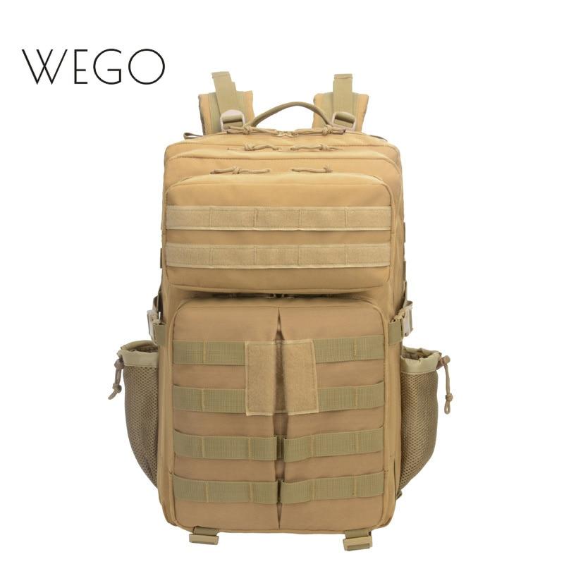 45L العسكرية التكتيكية أكسفورد حقيبة الظهر حقيبة رياضية متعددة الوظائف التمويه التنزه على ظهره مقاومة للماء