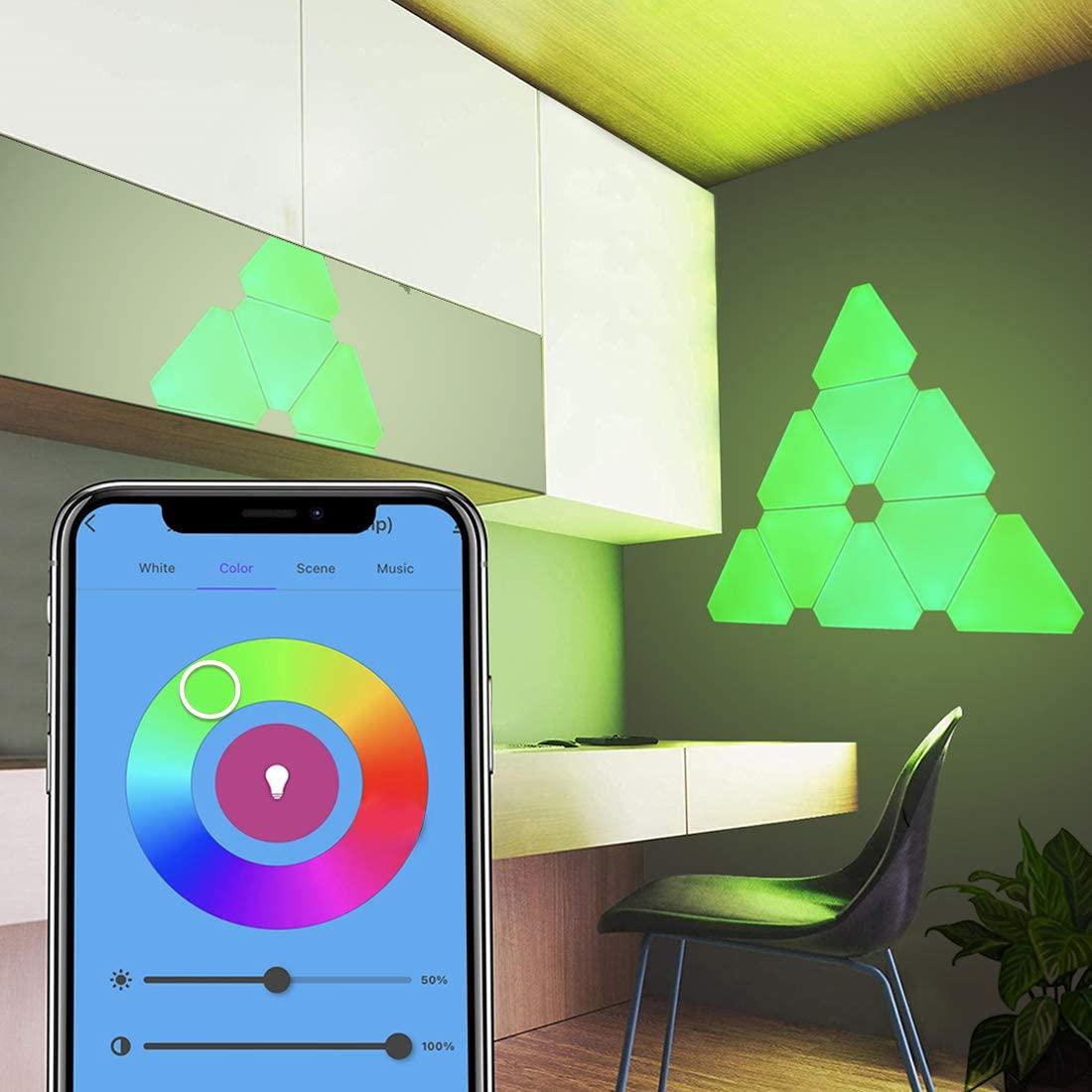 Smart Wall LED Light Gaming Light Panels Panels Touch-Sensitive Night Lights DIY Geometry Splicing Quantum Light Room Decor enlarge