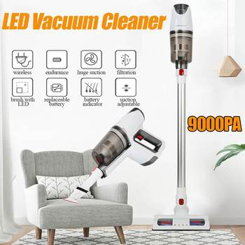 LED Cordless Vacuum Cleaner for Home Car 9000PA Powerful Suction Low Noise Handheld Vacuum Dust Collector Aspirator Cleaner