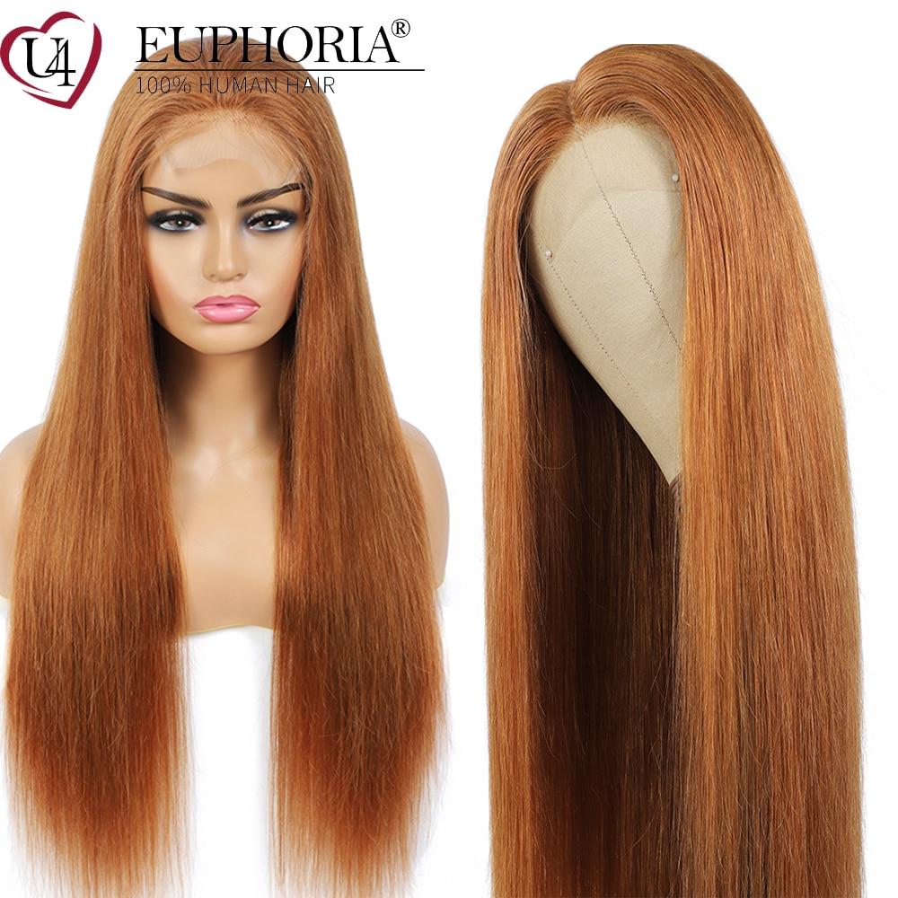 cabelo humano reto perucas de fechamento de renda 4x4 marrom 30 burg vermelho brasileiro
