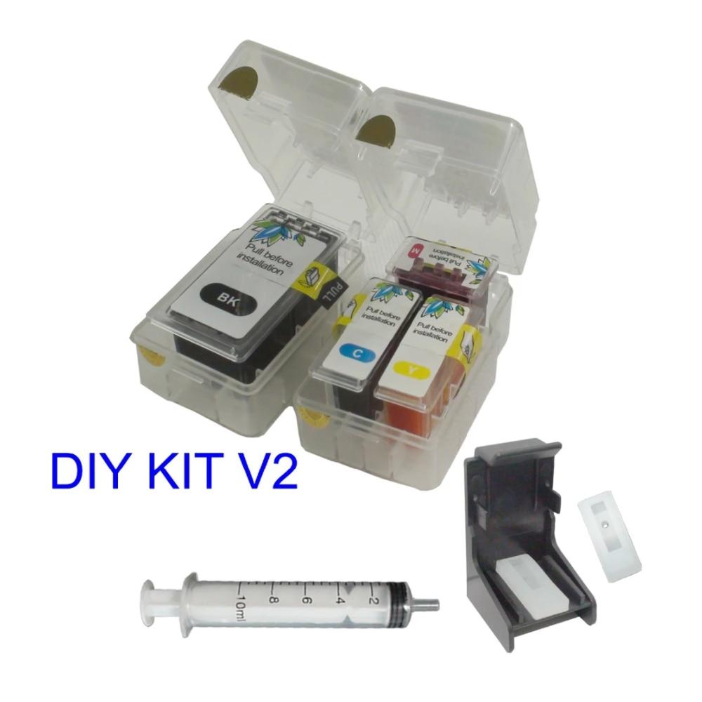Inteligente DIY kit De Recarga Para Genuine 810 811 811XL 810XL CANON MP497 MX328 MX338 MX347 MX357 MX366 MX416 MX426 Cartucho de Tinta V2