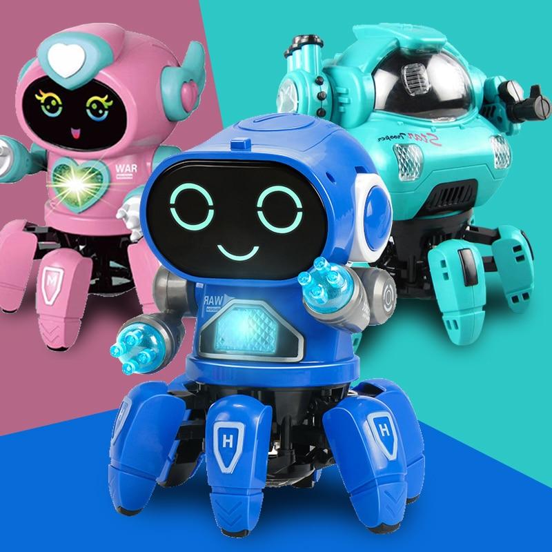 Танцевальная музыка, робот-осьминог, паук, игрушки для детей, подарок на день рождения, детская игрушка для раннего развития для мальчиков и ...