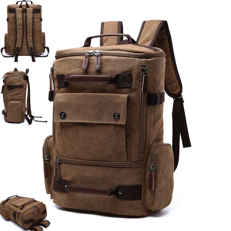Vintage Canvas Men's Backpack School Bag Men' Travel Bagpack Large Capacity Laptop Backpack Notebook