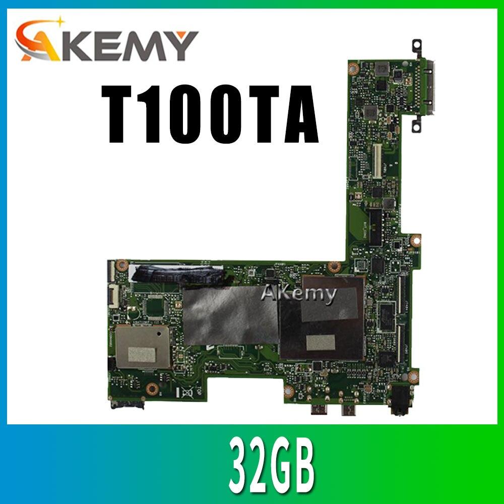 Para For Asus Transformer T100TA Tablet placa base 32GB Atom 1,33 Ghz CPU 60NB0450-MB1070 placa base 100% prueba