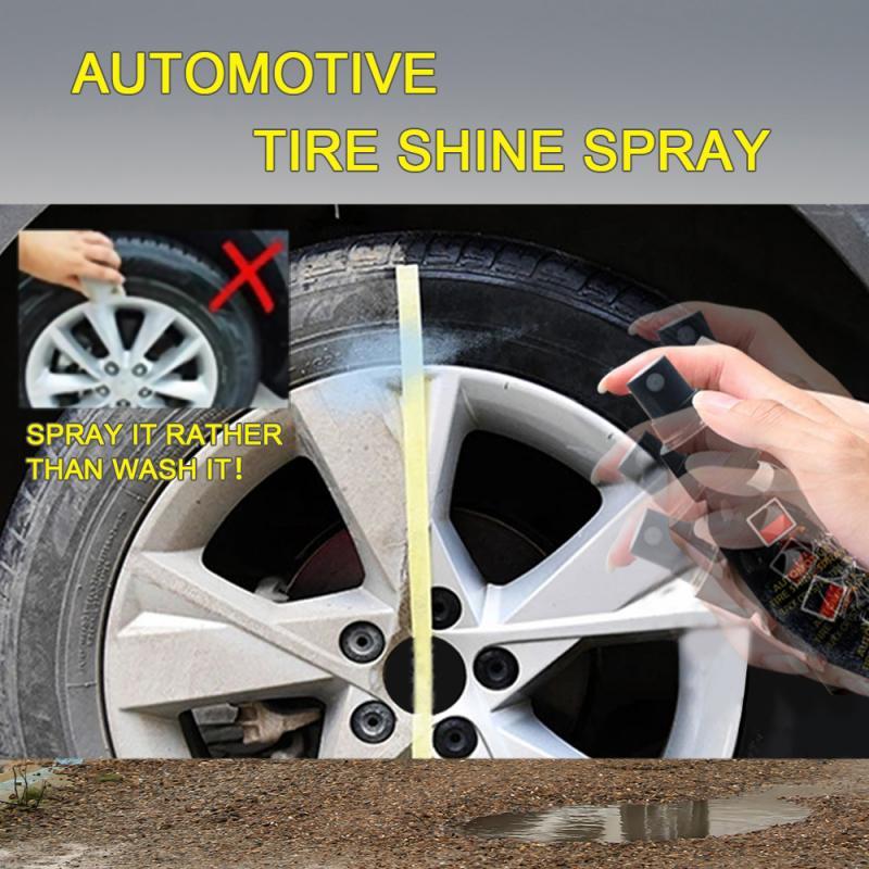 30LM автомобильный блеск для шин, спрей для автомобильных колес, Очищающий агент для шин, автомобильный воск, полировщик шин, автомобильные аксессуары TSLM2