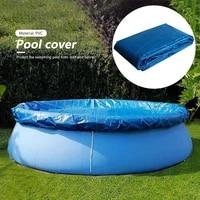 pe round swimming paddling pool cover cloth waterproof pool tub anti dust tarpaulin outdoor garden pool accessories